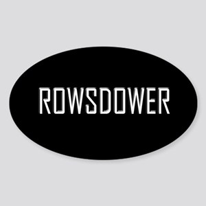 Rowsdower Oval Sticker