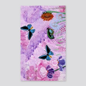 Birdwing On African Lily 3'x5' Area Rug