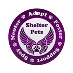 Shelter Pets Ornament (round)