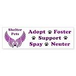 Shelter Pets Bumper Sticker