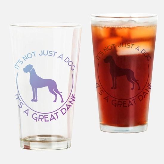 Cute Great dane Drinking Glass
