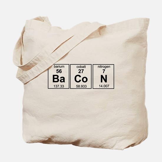 Bacon periodic table Tote Bag