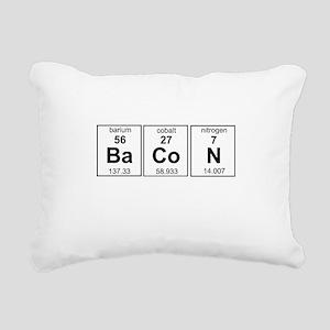 Bacon periodic table Rectangular Canvas Pillow