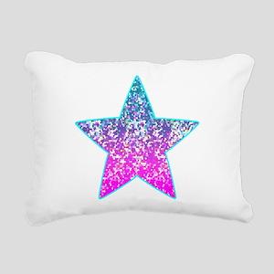 Glitter 9 Rectangular Canvas Pillow