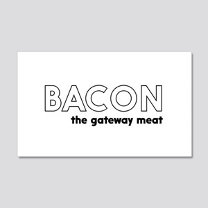 Bacon the gateway meat Wall Decal