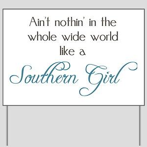 "Huge 57"" Vintage Inspired Embossed Metal SOUTHERN Sign ...  |Southern Girl Signs"