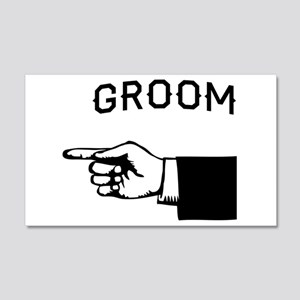 Groom to the Left Wall Decal