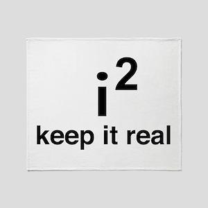 math keep it real Throw Blanket