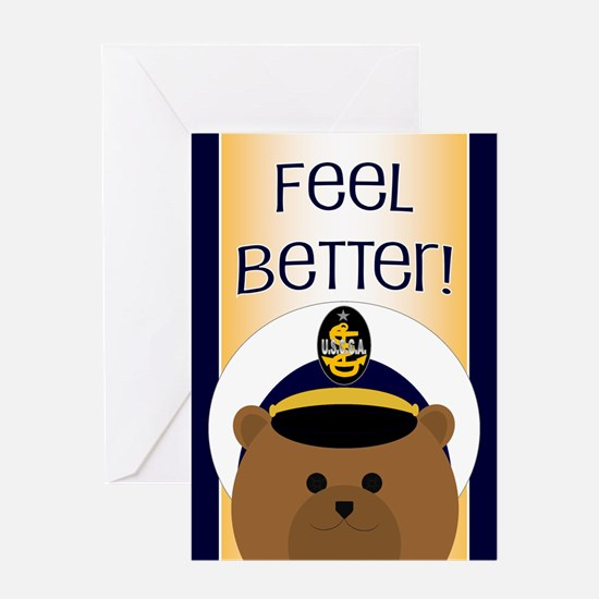 Coast Guard Cadet Get Well Card Greeting Cards