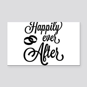 Happily Ever After Rectangle Car Magnet