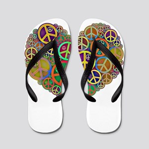 69751c85f Peace Love Giants Flip Flops - CafePress