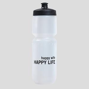 Happy Wife, Happy Life Sports Bottle