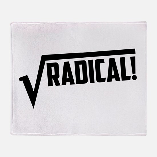 Math radical square root Throw Blanket