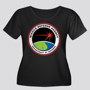 Missile Women's Plus Size Scoop Neck Dark T-Shirt