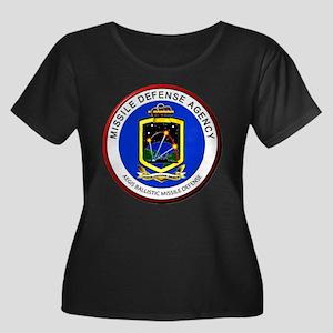 Aegis Pr Women's Plus Size Scoop Neck Dark T-Shirt