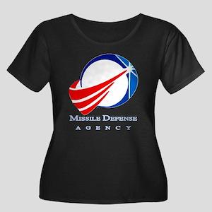 MDA New Women's Plus Size Scoop Neck Dark T-Shirt