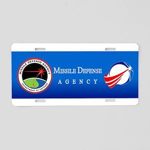 Missile Defense Agency Logo Aluminum License Plate