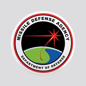 """Missile Defense Agency Logo 3.5"""" Button"""