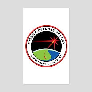 Missile Defense Agency Logo Sticker (rectangle)