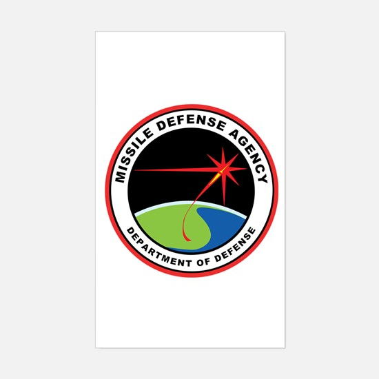 Missile Defense Agency Logo Sticker (rectangle)