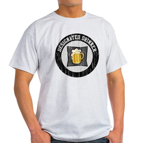 Designated Drinker Distressed Look Light T-Shirt
