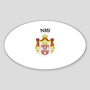 Nis, Serbia & Montenegro Oval Sticker