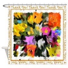 Thank you! unisex note Shower Curtain