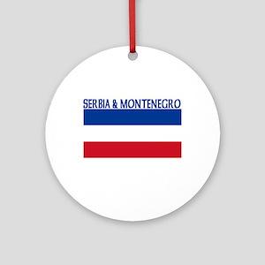 Serbia & Montenegro Ornament (Round)