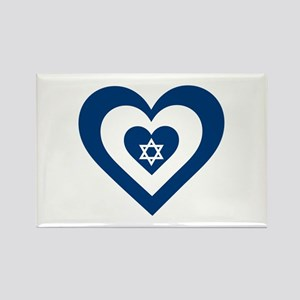 Heart Israel Magnets