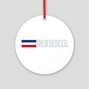 Serbia Flag (Dark) Ornament (Round)