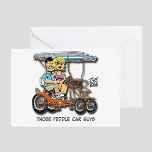 """Those Peddle Car Guys"" Greeting Cards"