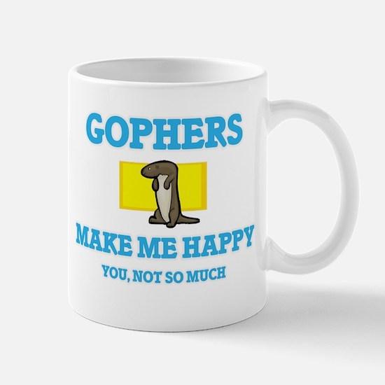 Gophers Make Me Happy Mugs