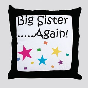 Big Sister Again! Throw Pillow