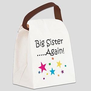 Big Sister Again! Canvas Lunch Bag