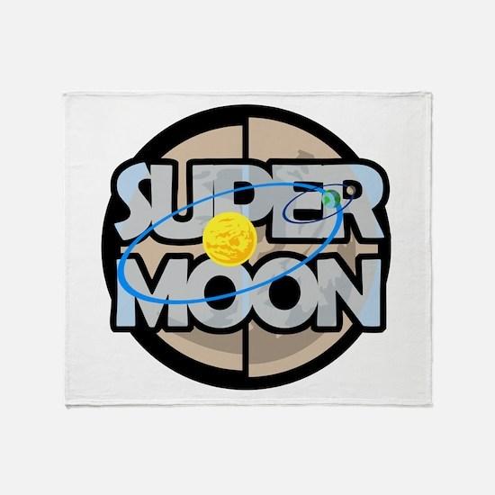 Super Moon Diagram Throw Blanket
