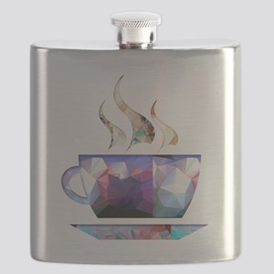 Mosaic Polygon Colorful Cup of Cocoa Flask