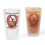 Powered by Hamsters 2 Drinking Glass