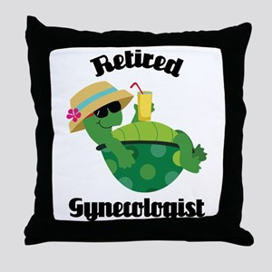 Retired gynecologist Throw Pillow