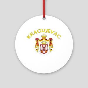 Kragujevac, Serbia & Monteneg Ornament (Round)