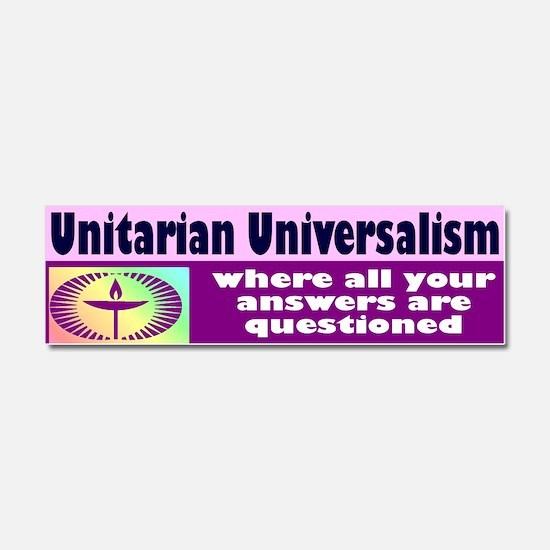 Cute Unitarian Car Magnet 10 x 3