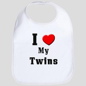 I Love Twins Bib