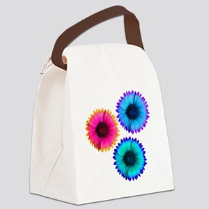 Bright Flowers Canvas Lunch Bag