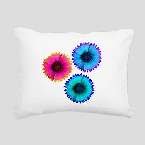 Bright Flowers Rectangular Canvas Pillow
