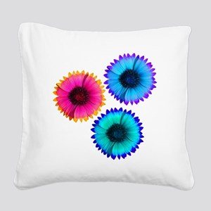 Bright Flowers Square Canvas Pillow