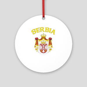 Serbia Coat of Arms (Dark) Ornament (Round)