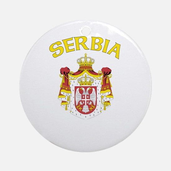 Serbia Coat of Arms (Dark) Ornament (Round)