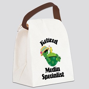 Retired media specialist Canvas Lunch Bag