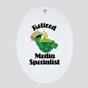 Retired media specialist Ornament (Oval)