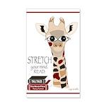 Giraffe Reads Wall Decal