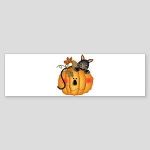 Happy Pumpkin Sticker (Bumper)